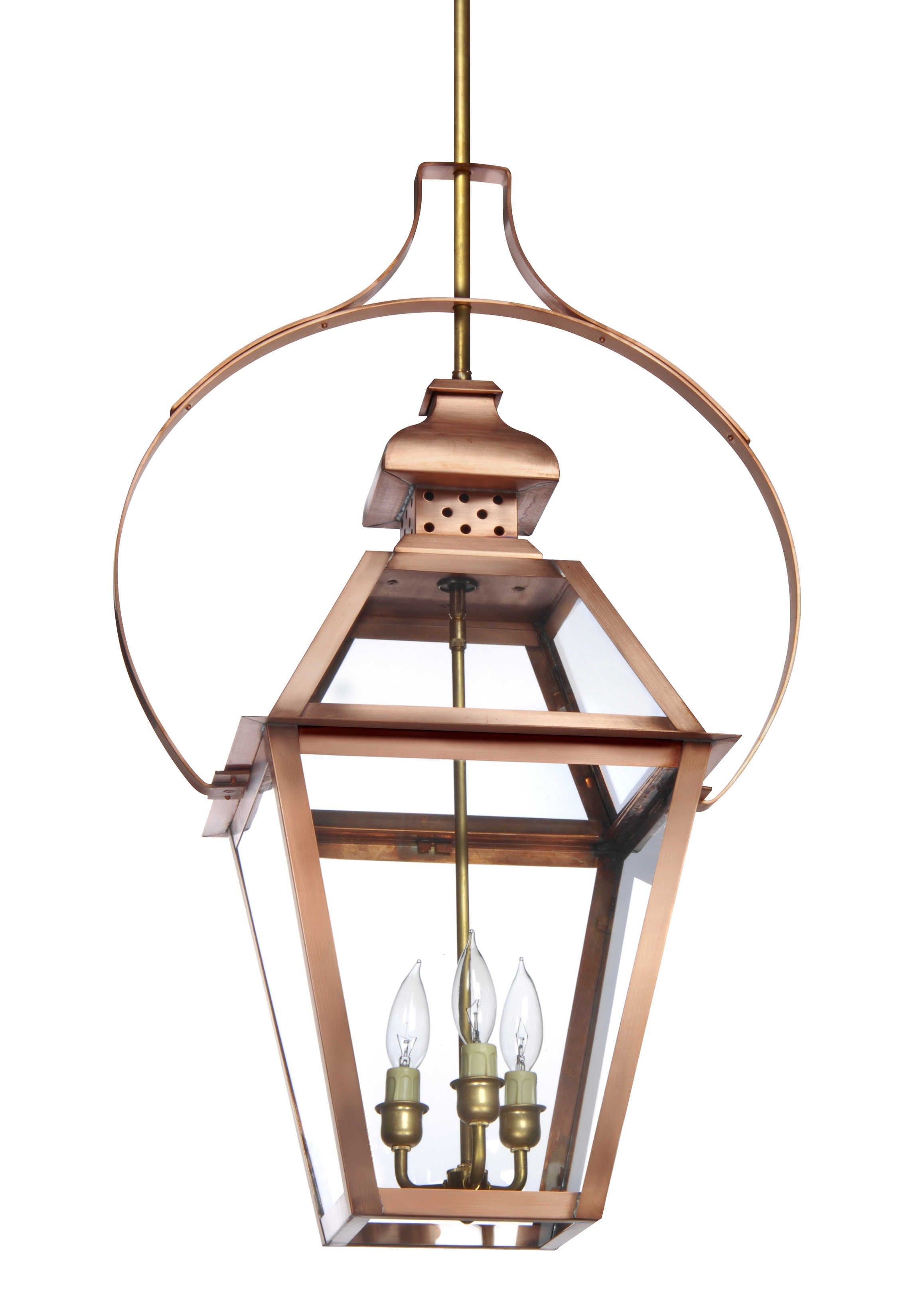 Neocharleston Collection N 23 Hanging Light With Yoke Lantern Scroll Copper Lantern Hanging Lights Lantern Pendant Lighting