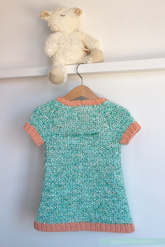 Pretty in Peach Pocket Dress (back) | Free Crochet Pattern ...