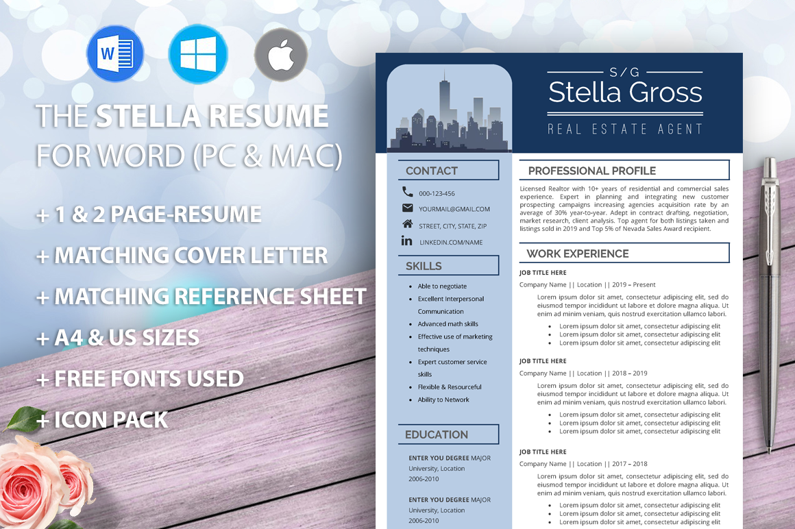 realtor resume template  real estate resume  architect resume  real estate agent cv  resumes for