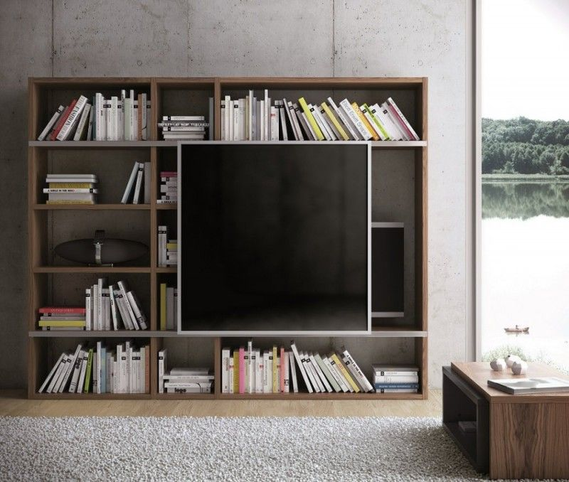 47 Idées Déco De Meuble TV Bibliothèque Meuble Tv, Meuble Tv Et Tv