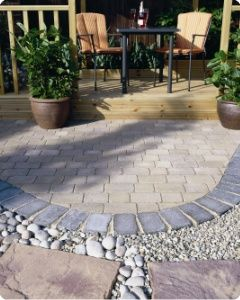 Patio Paving Ideas Heritage Paving Circle By Stephen Morris Landscapes  Gardens