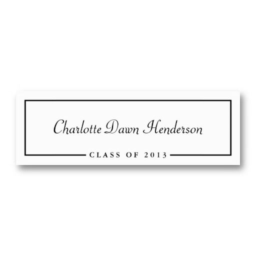Graduation announcement name card border Class of Card templates - cypress resume