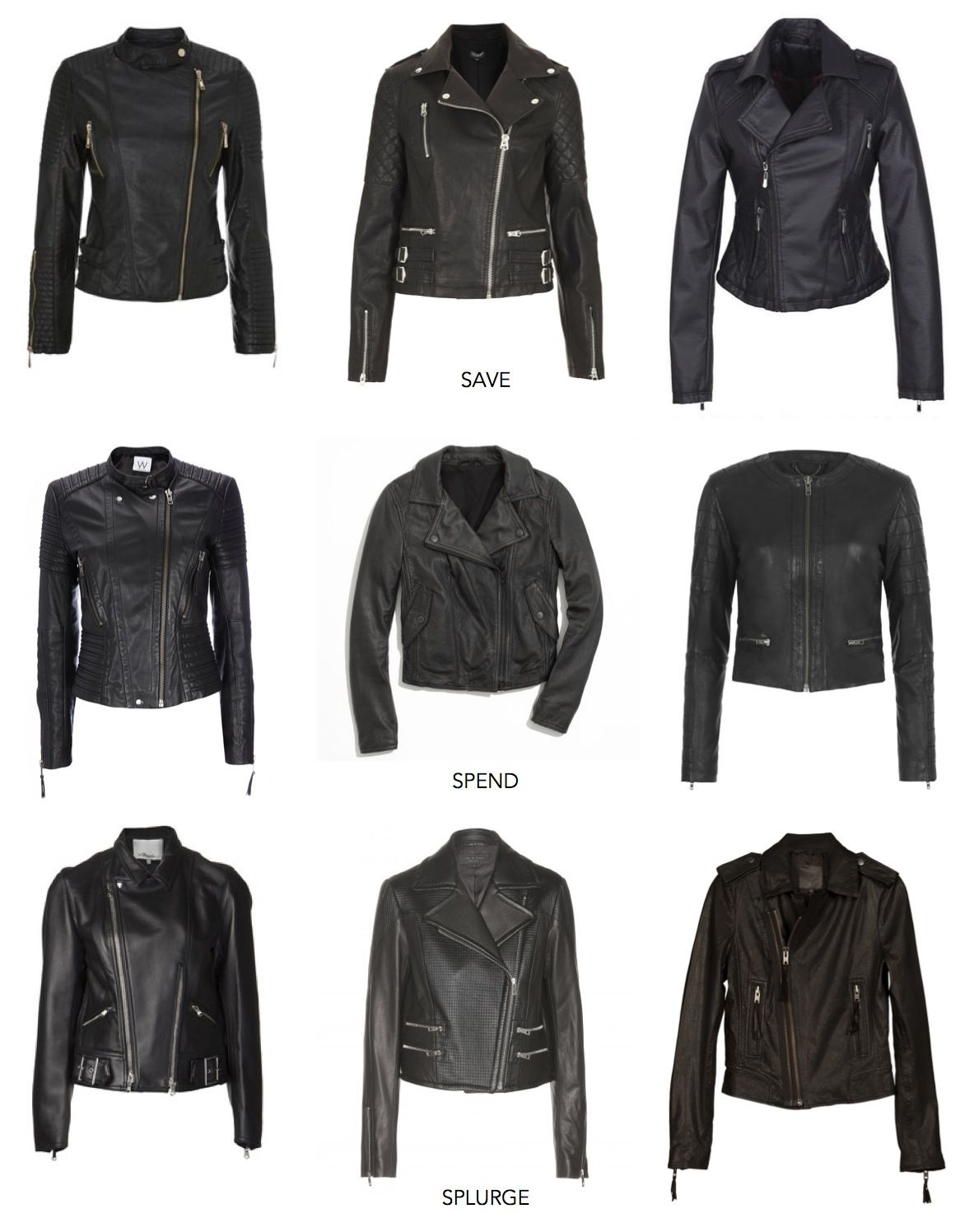 Leather Jackets. I like top left and top right | My Style ...