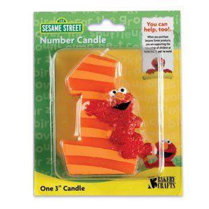 Sesame Street Elmo First Birthday Candle OasisSupply Fun