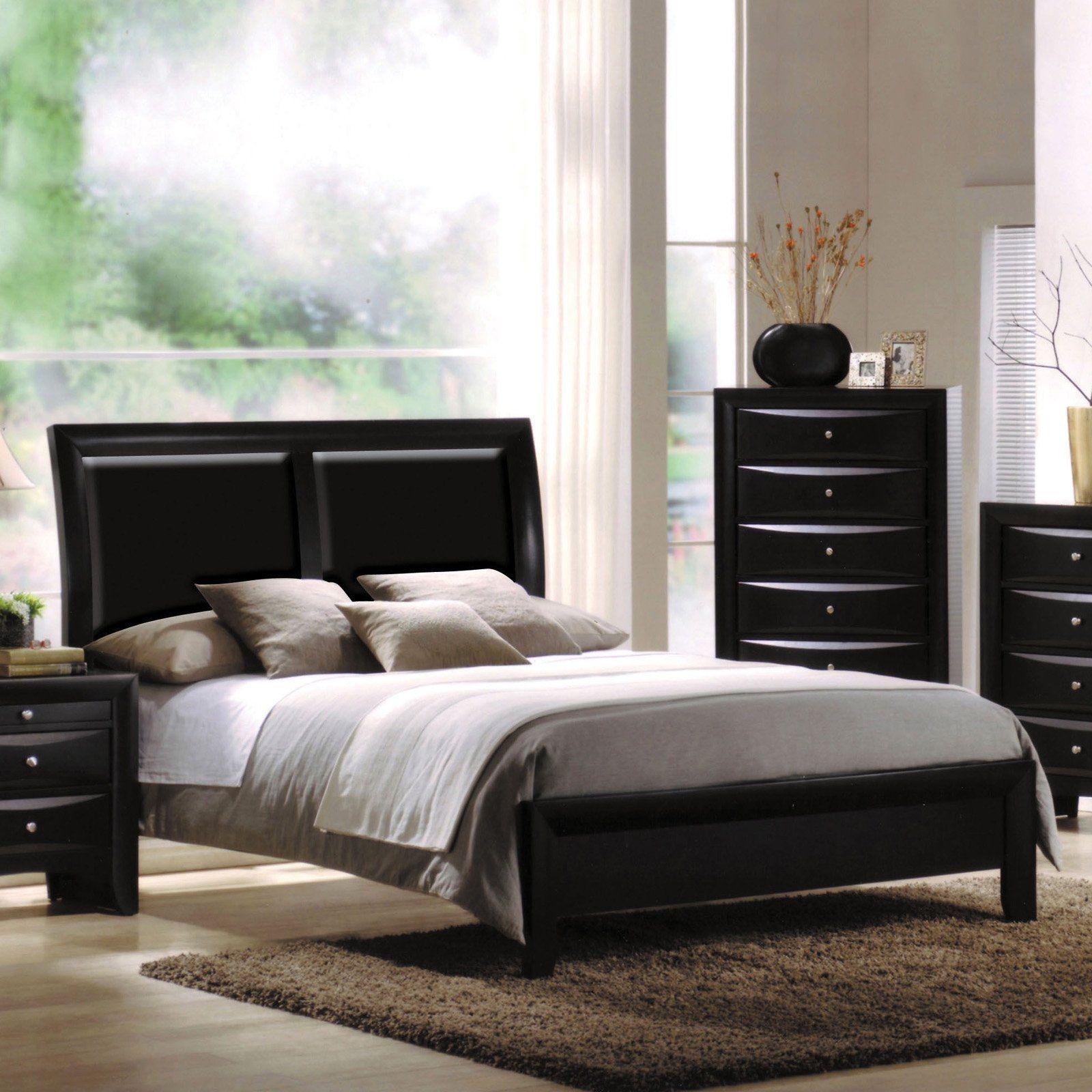 Acme Furniture Ireland I Black Low Profile Bed, Size