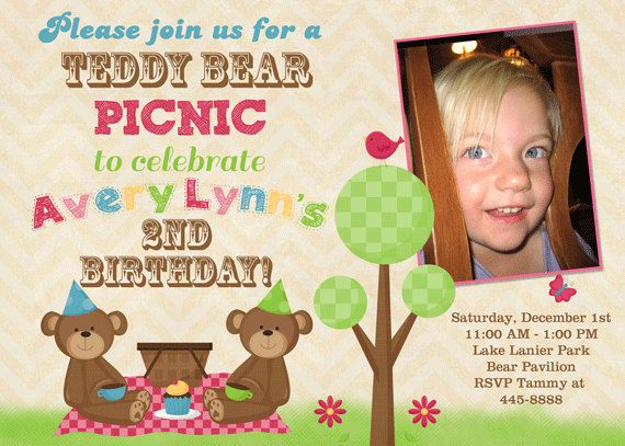1000 images about Teddy bears picnic – Teddy Bear Birthday Invitation