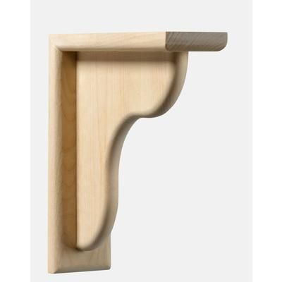 Ornamental Mouldings Maple Counter Support Bracket 2 1 X 9 4 Im Cts112a Mapl Home Depot Canada