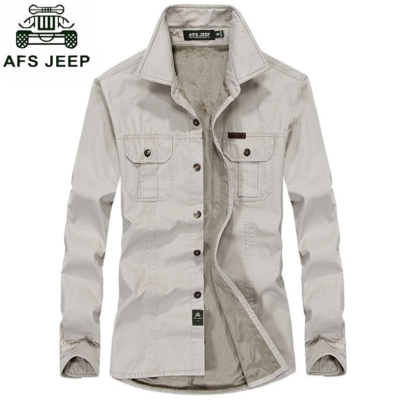 1b2f702d6fe Big size M-6XL afs jeep shirt men brand clothing men shirt long sleeve  thick warm casual men dress shirts camisa masculina slim  Affiliate