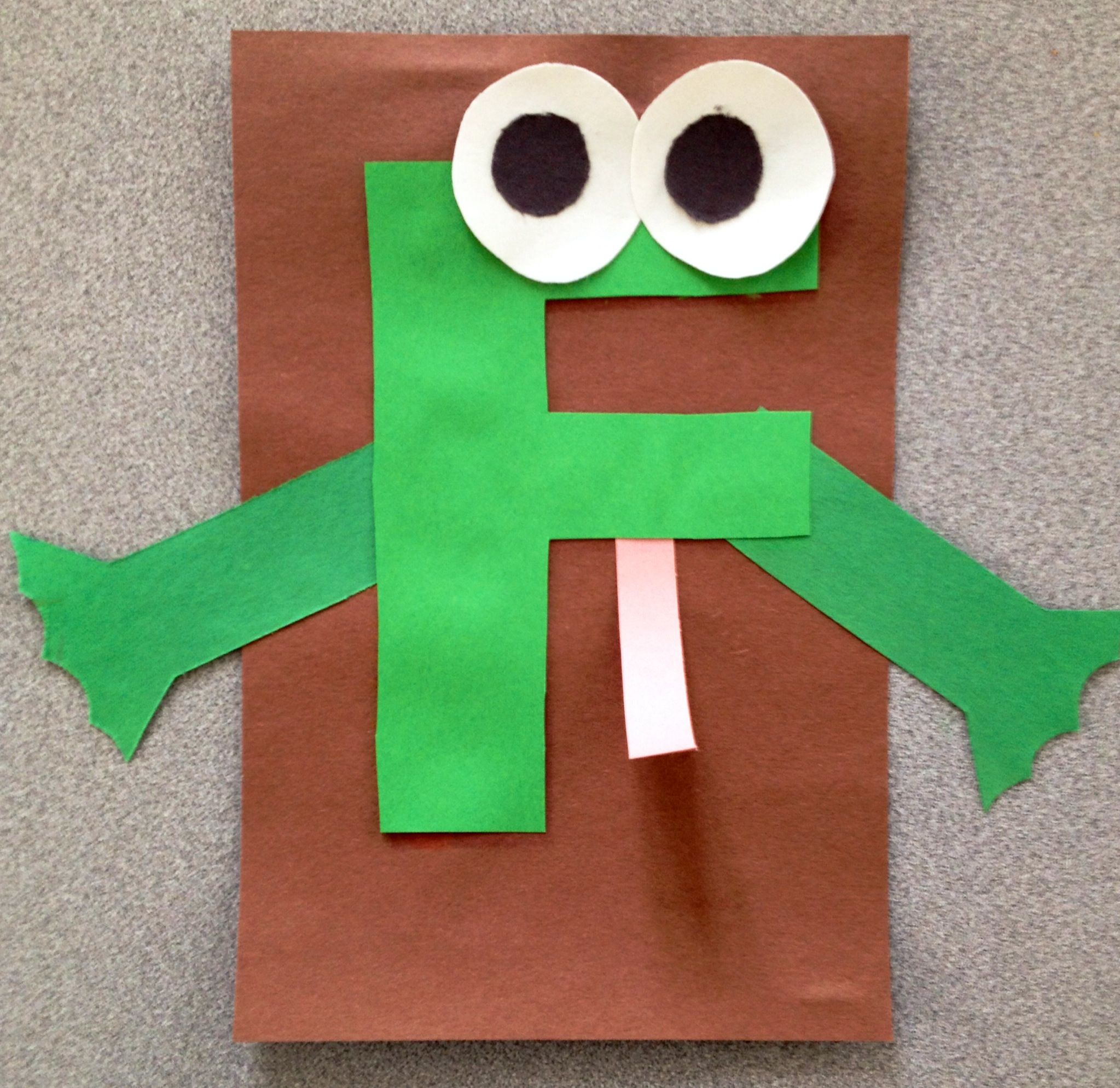 Letter F Is For Frog Craft Use Lower Case F And Add Red Tongue