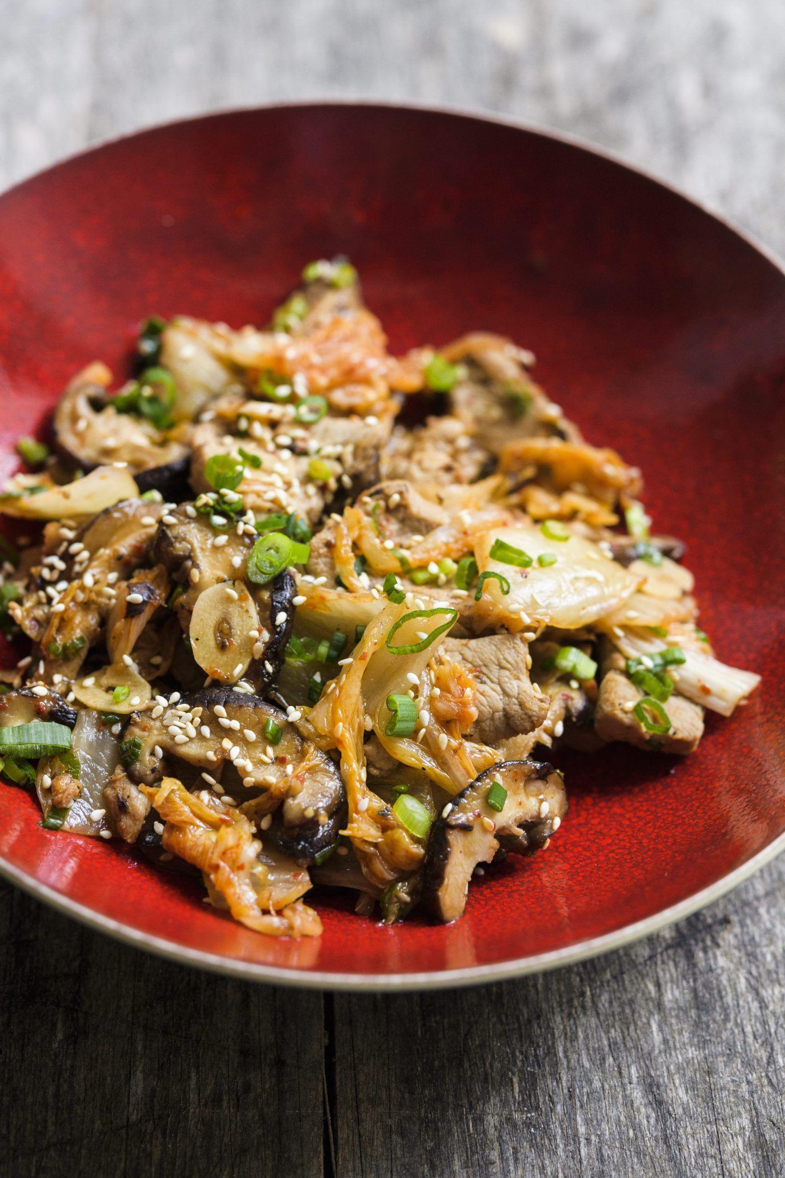 Sesame Stir Fried Pork With Shiitakes Recipe Pork Recipes