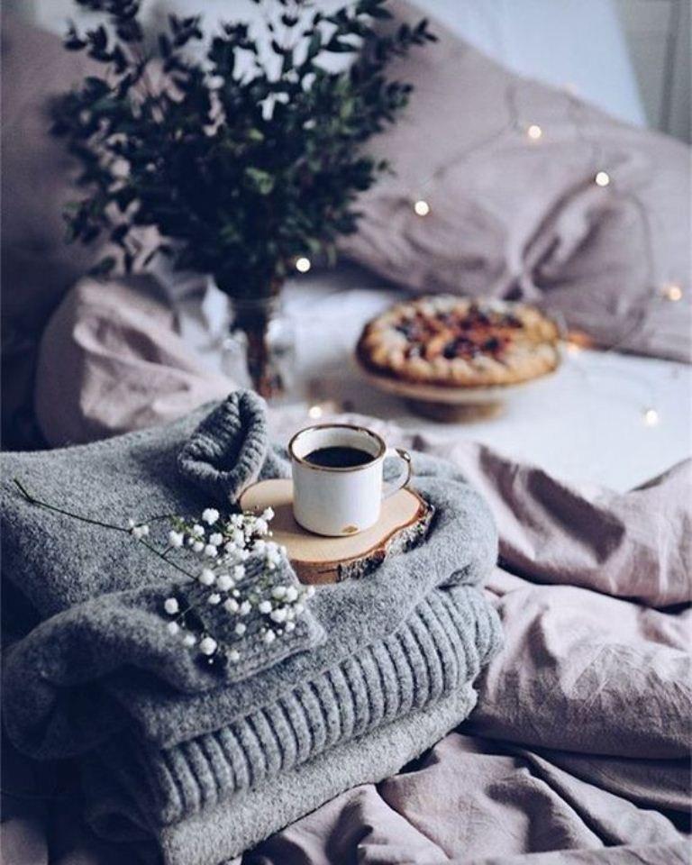 Зима утро картинки кофе