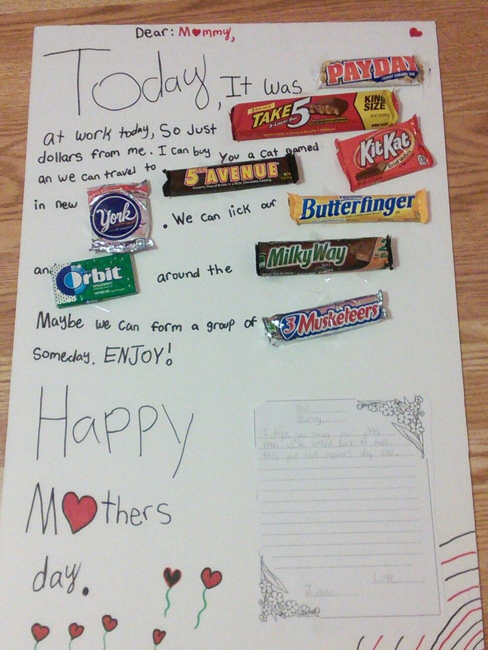 Mothers day candy board