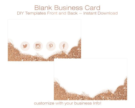 BUSINESS CARD Template - DIY Blank Business Card Standard Size - blank business card template