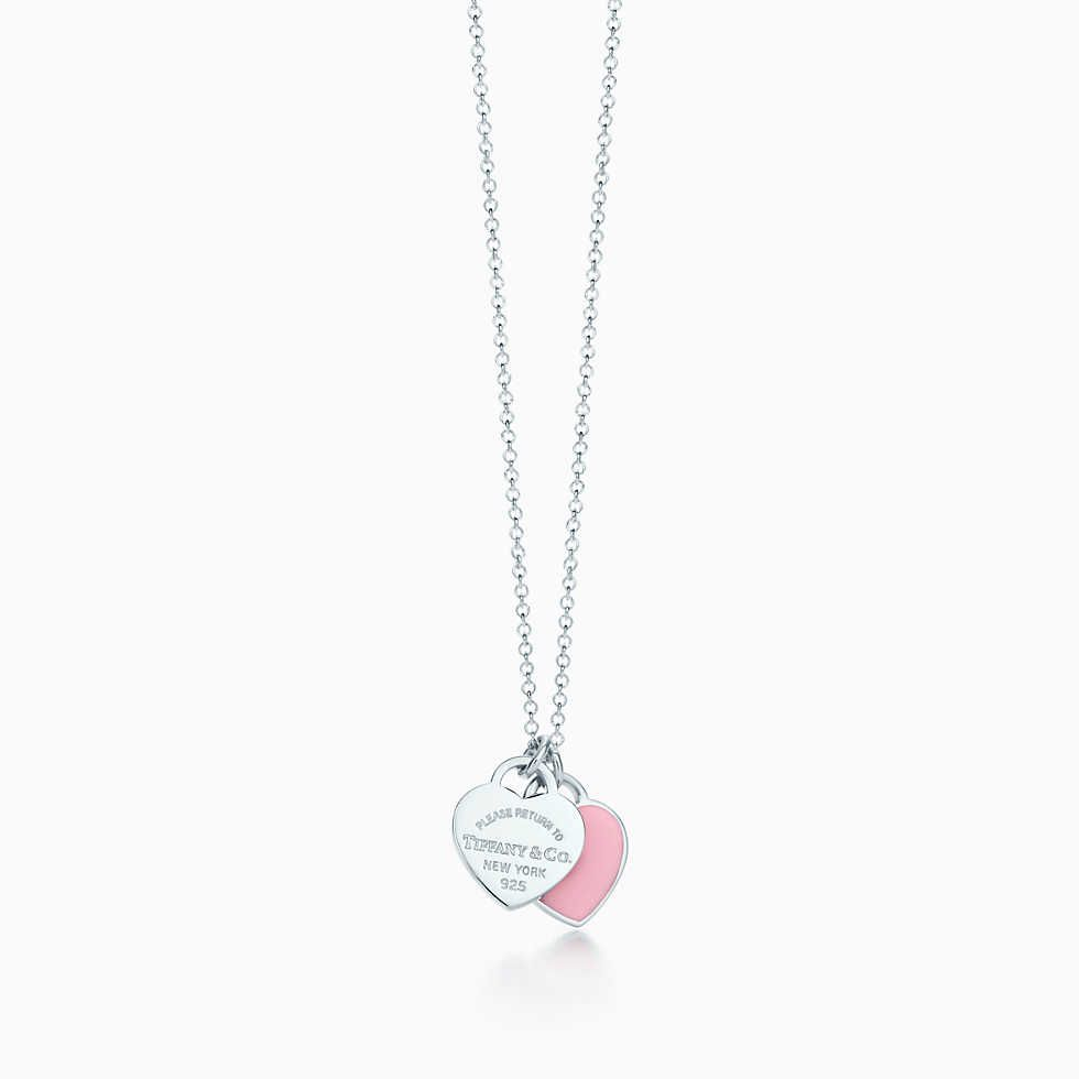 Return To Tiffany Mini Double Heart Tag Pendant  Tiffany