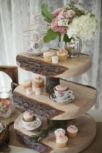 Unique Rustic Cake Stands