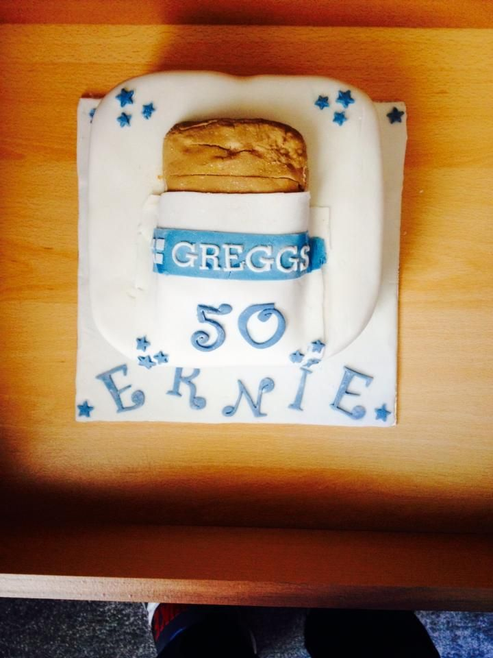 Husbands Th Birthday Cake Inspired By His Love Of Greggs Pasties