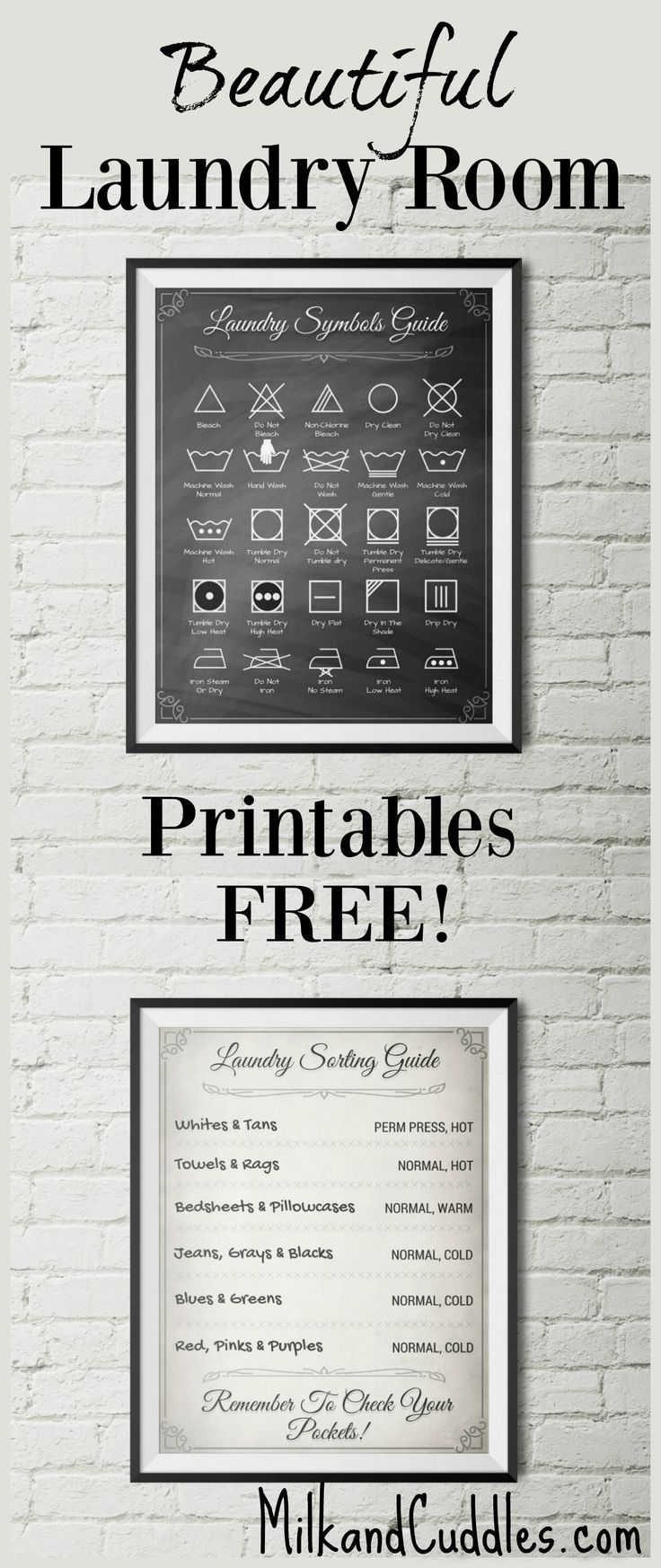 Room Design Online Free: Free Printables For Laundry Room