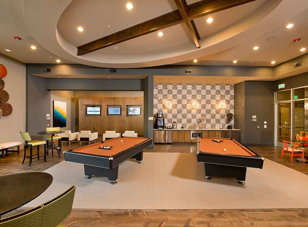 Relaxation Station Pool Lounge: Game Lounge With Gaming Stations, Billiards And IPod