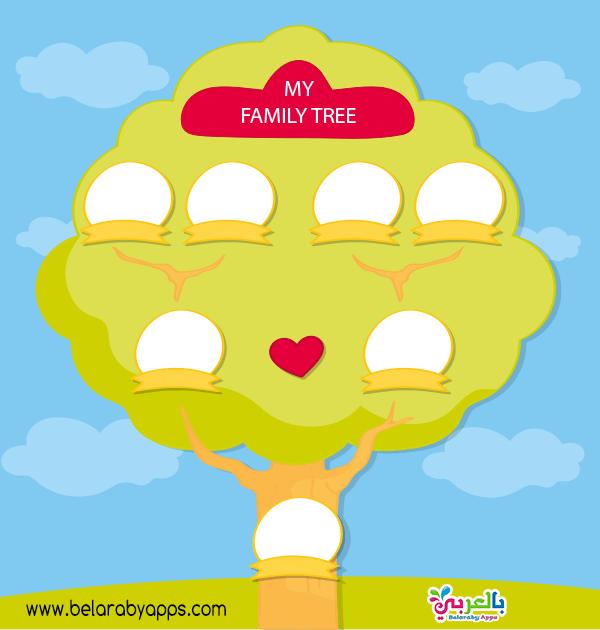 نماذج شجرة العائلة للاطفال بالصور عائلتي أسرتي بالعربي نتعلم In 2021 Dad N Me Family Tree My Design