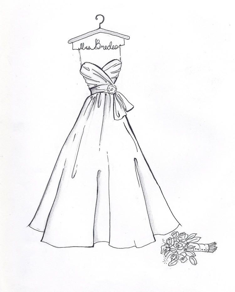 Wedding Dress Coloring Pages For Preschool Wedding Dress Drawings Dress Drawing Easy Dress Sketches