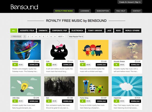 Bensound 免費下載 CC 授權背景音樂,獨特又有質感創意作品精選 (With images) Music