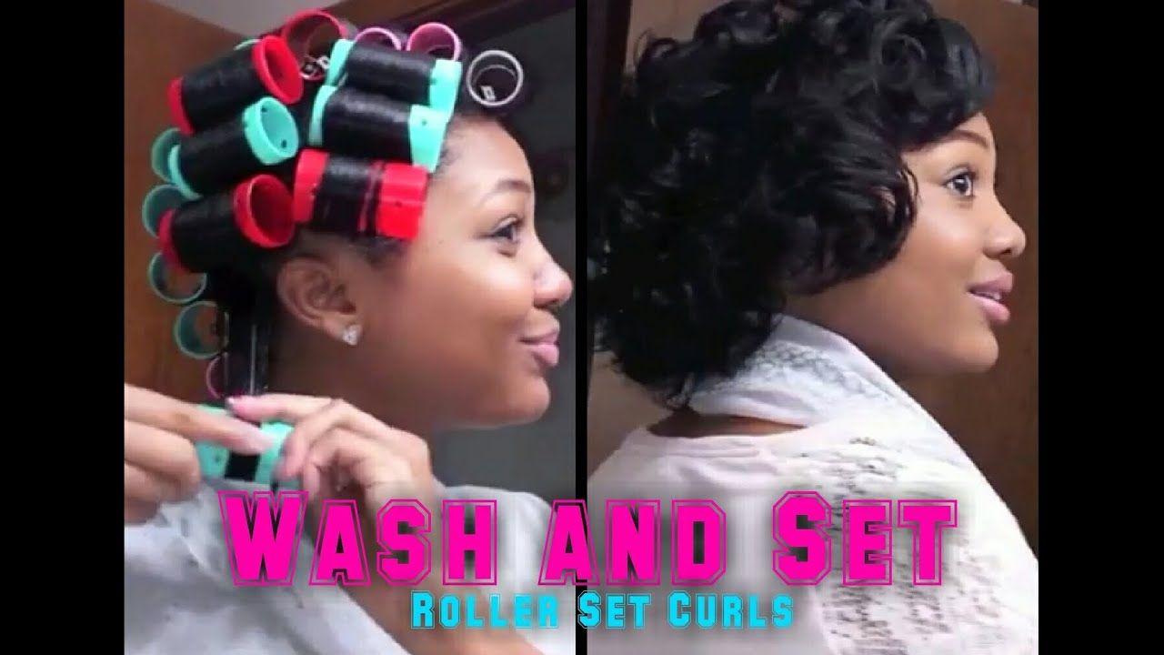 Updated Roller Set Hair Tutorial Wash Set Your Hair Youtube Roller Set Hairstyles Roller Set Natural Hair Hair Rollers Tutorial