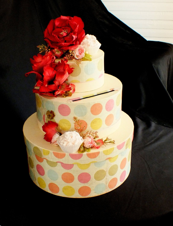 783 Handmade Cupcake Wedding Money Gift Card Box Earth Friendly ...
