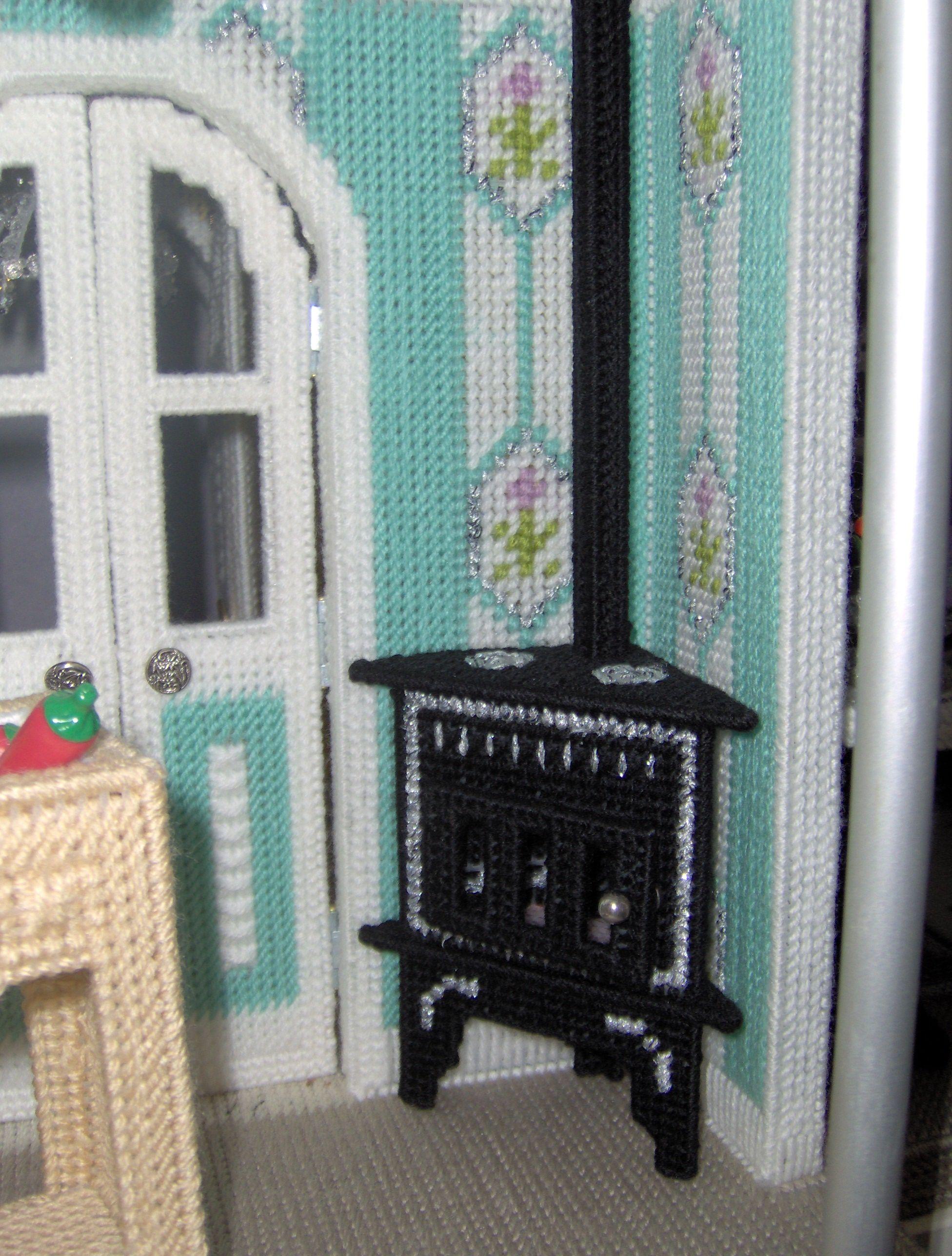Fashion Doll Dream Castle Plastic Canvas 2013 Kitchen 00
