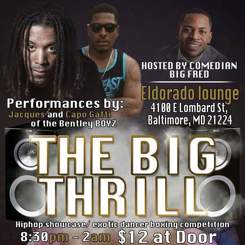 Ain't no better place to be for tonight! That's a fact!  If you got love for anybody on this card ull be here wit us! Tip the strippers grab a drink and enjoy the night! ‪#‎TheBigThrill‬ TONIGHT.