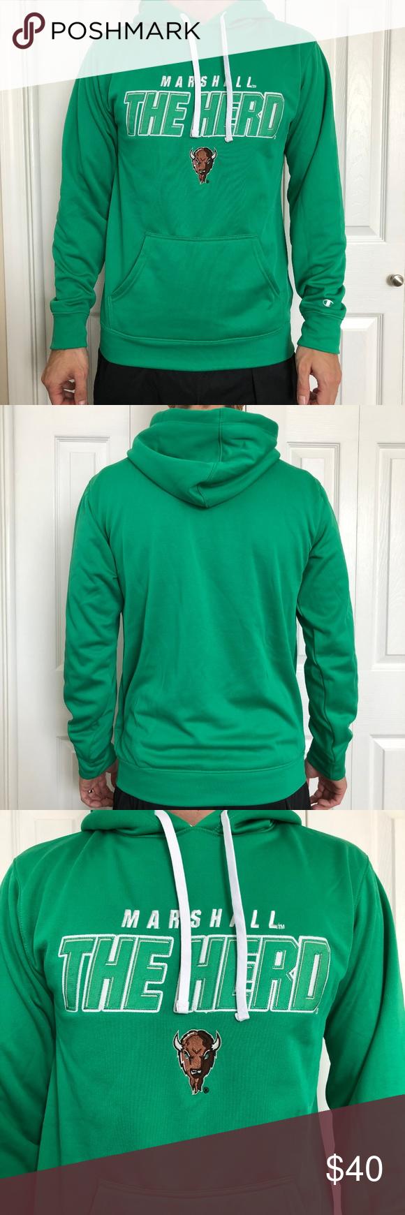 Champion Marshall The Thundering Herd Hoodie S Clothes Design Pullover Sweatshirts Sweatshirt Shirt [ 1740 x 580 Pixel ]
