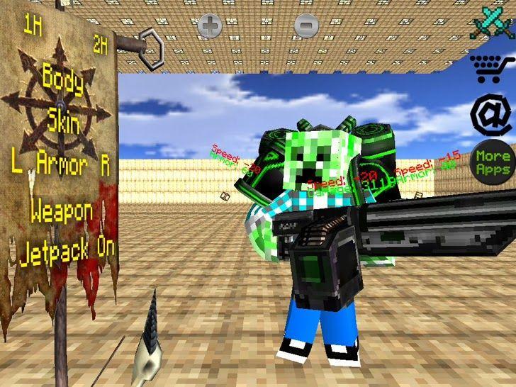 Block World Free >> Battle Craft 3d Free Sword Gun Block World Fighting Arena For