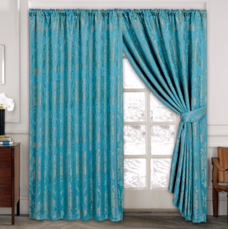 Savin Pencil Pleat Panel Curtains Charlton Home Size 117cm X 137cm Colour Teal Curtains
