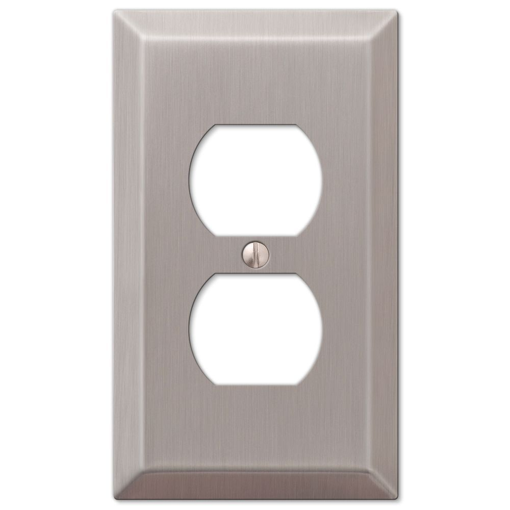 Amertac 16bn 1 Duplex Satin Nickel Wall Switch Plate Switches Outlet Covers Silver