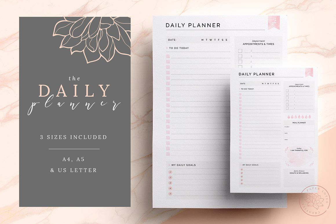 FILLABLE Daily Planner Printable PDF Daily planner