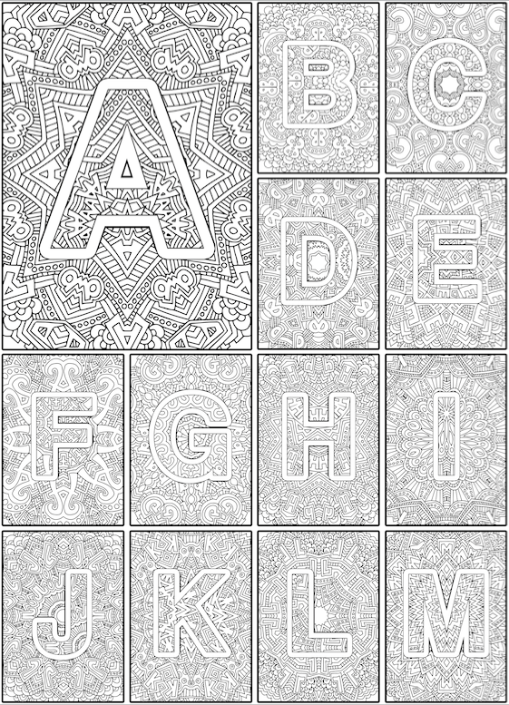 Color The Alphabet A Z Adult Coloring Book Sarah Renae Clark Coloring Book Artist And Designer