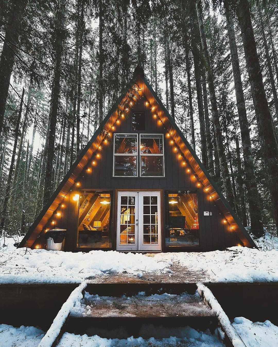 This Is The Most Liked Airbnb On Instagram A Frame Cabin Cabin Small House Design