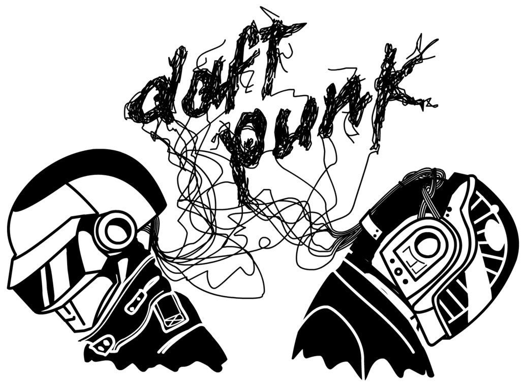 Daft Punk Final By Lajuanademiguel Png 1035 771 Daft Punk Colouring Pages Logos