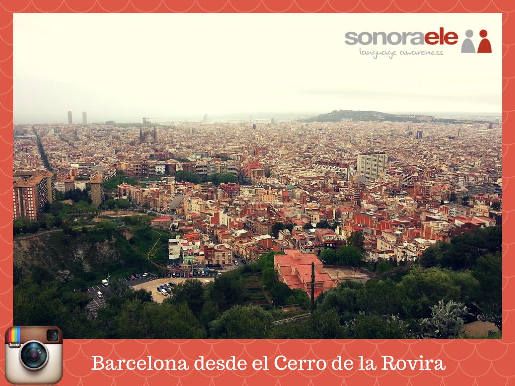 Aquí tienes una imagen interactiva a partir de una foto que tomamos desde el Cerro de la Rovira (Barcelona, España). Si mueves el cursor por la imagen vas a ver 3 signos de interrogación. En cada uno de ellos hay actividades para los niveles A1/A2, B1/B2 y C1/C2, ¿te animas a hacer las de tu nivel?