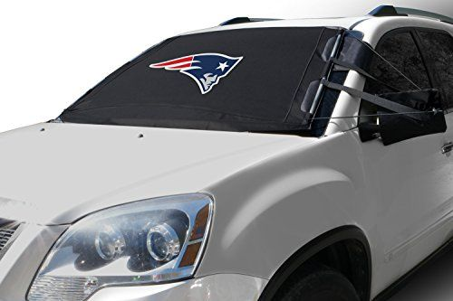 NFL FrostGuard: Winter Snow, Ice and Frost Windshield Cover - New England Patriots - Standard Size. For product info go to:  https://www.caraccessoriesonlinemarket.com/nfl-frostguard-winter-snow-ice-and-frost-windshield-cover-new-england-patriots-standard-size/