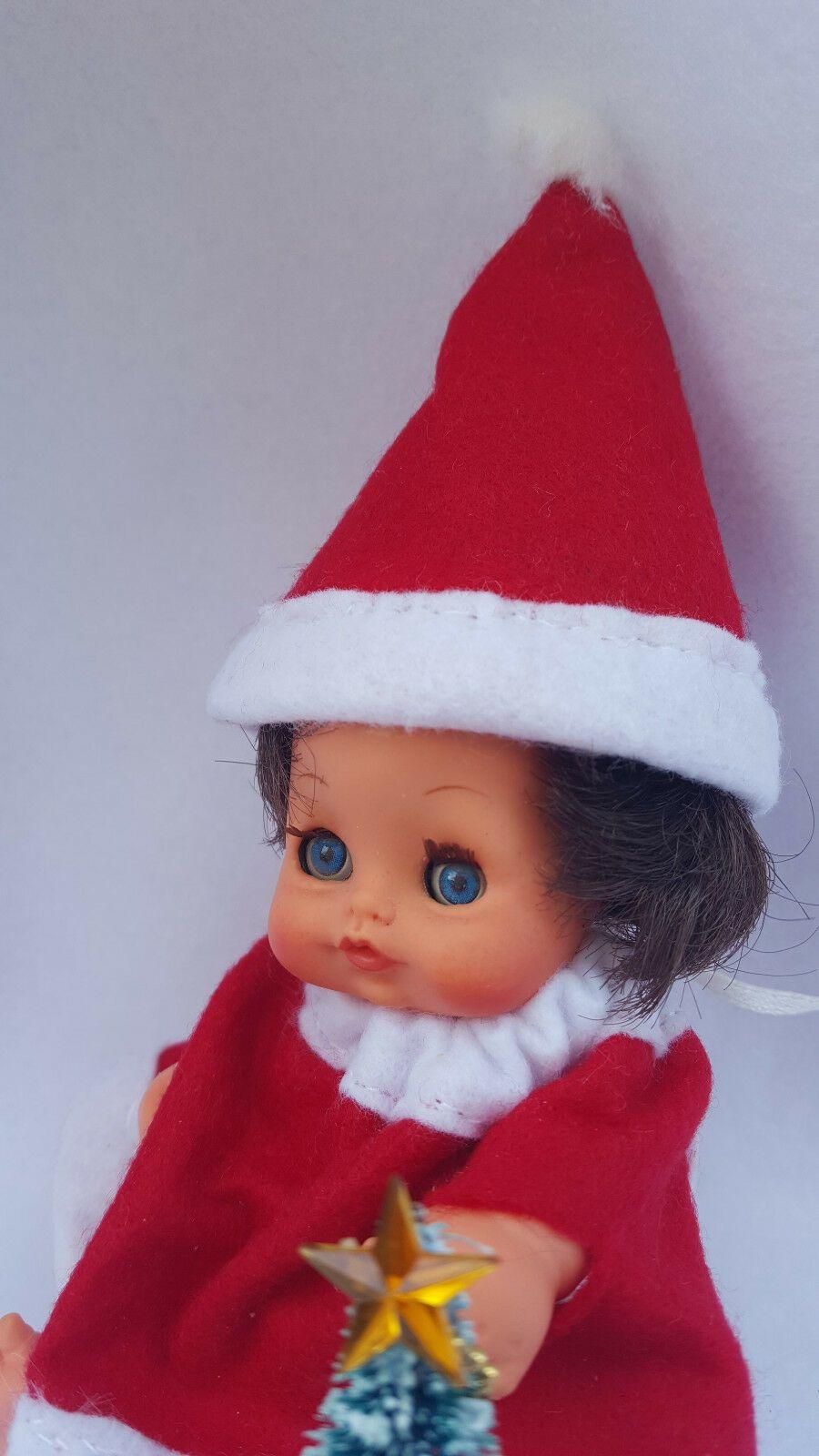 Decorazioni Natalizie Anni 70.Dettagli Su Bambola Mini Furga Vintage Doll Anni 70 Cacio Pera Babbo