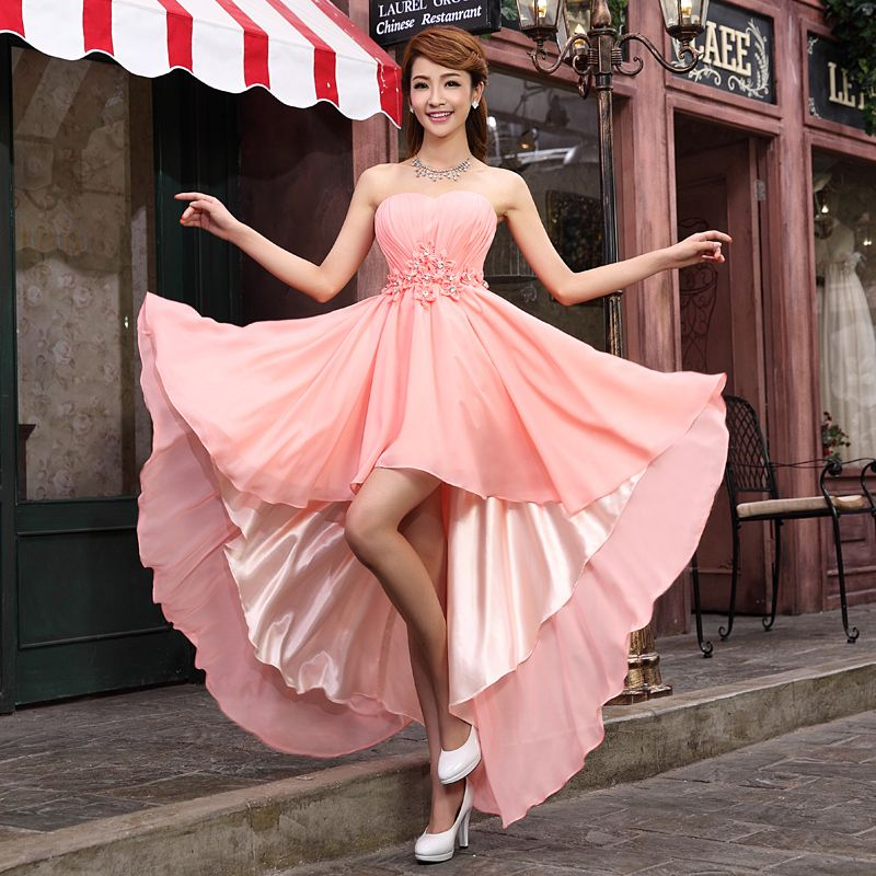 Find More Information about Pink High Low Evening Dresses Prom Dress ...