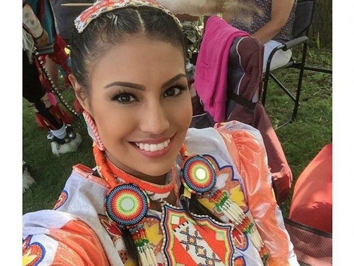 Ashley Burnham, a member of Enoch Cree Nation in Alberta ...