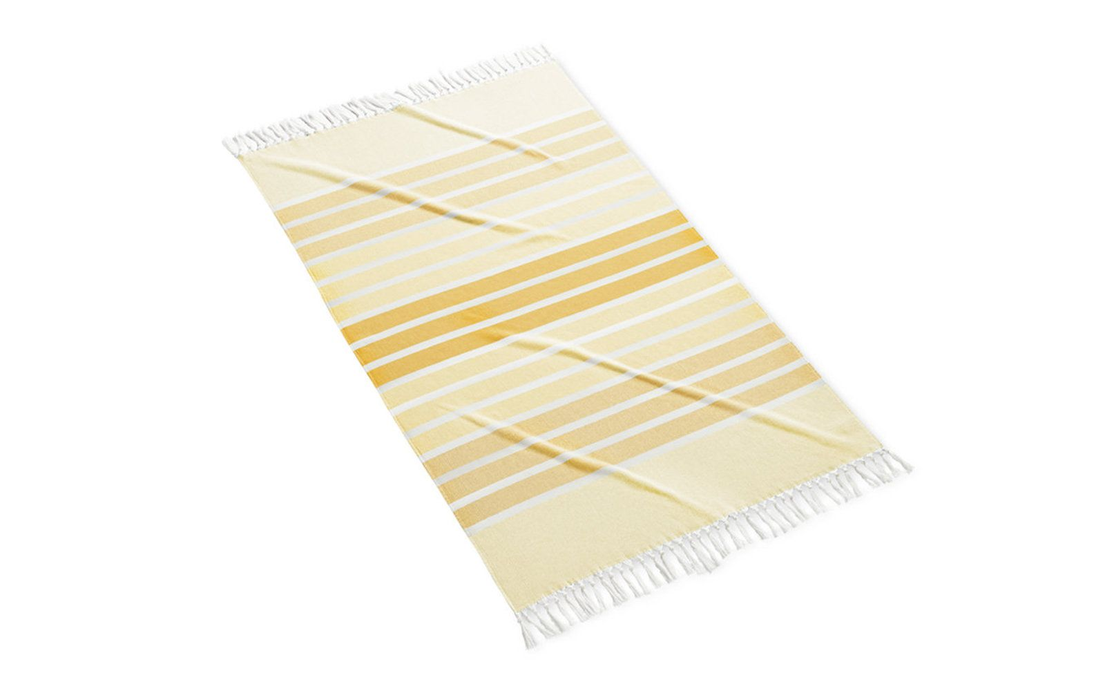 featuring our Bodrum beach towel in yellow.