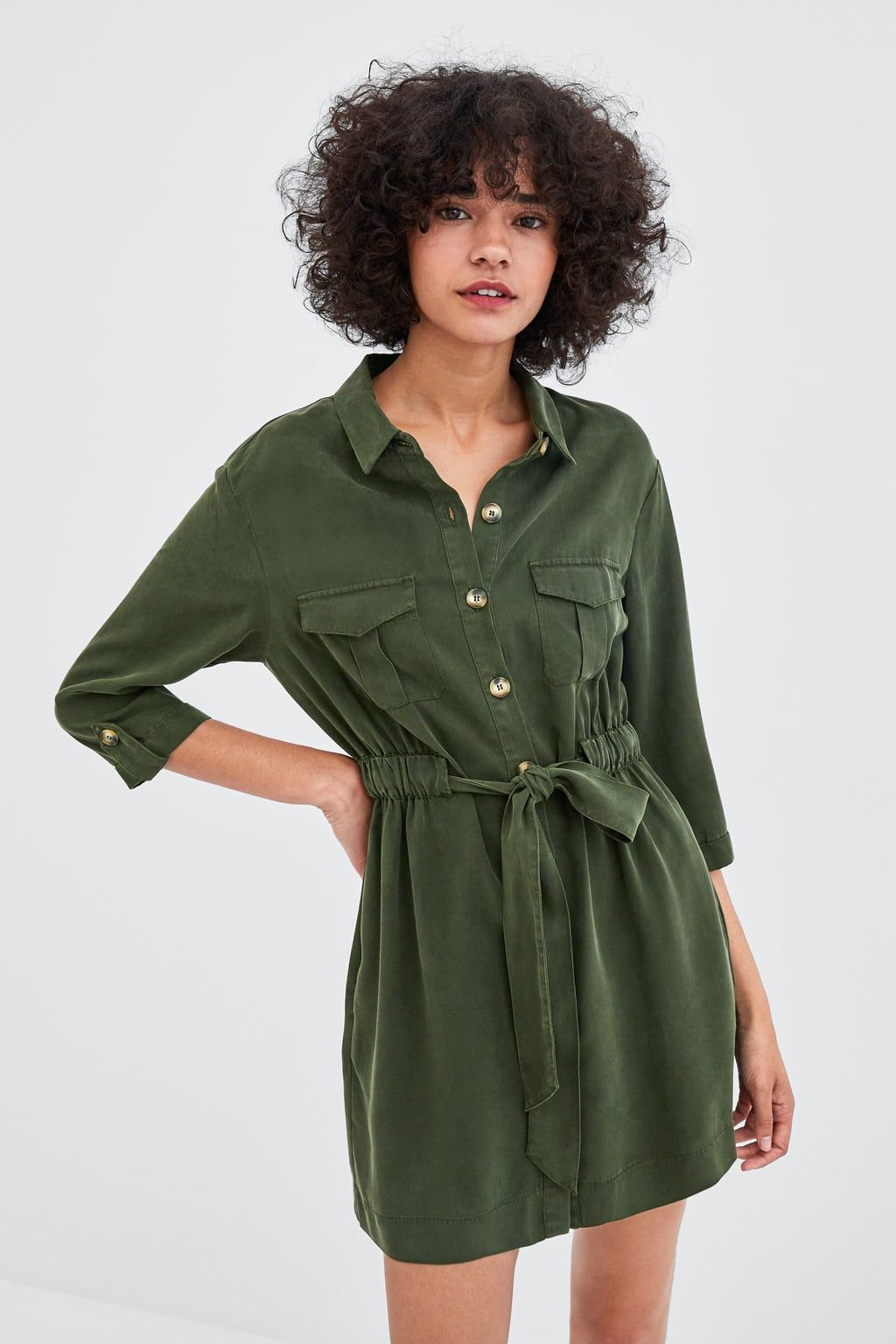dc8fb8e4 Image 2 of SHIRT DRESS WITH BELT from Zara ...