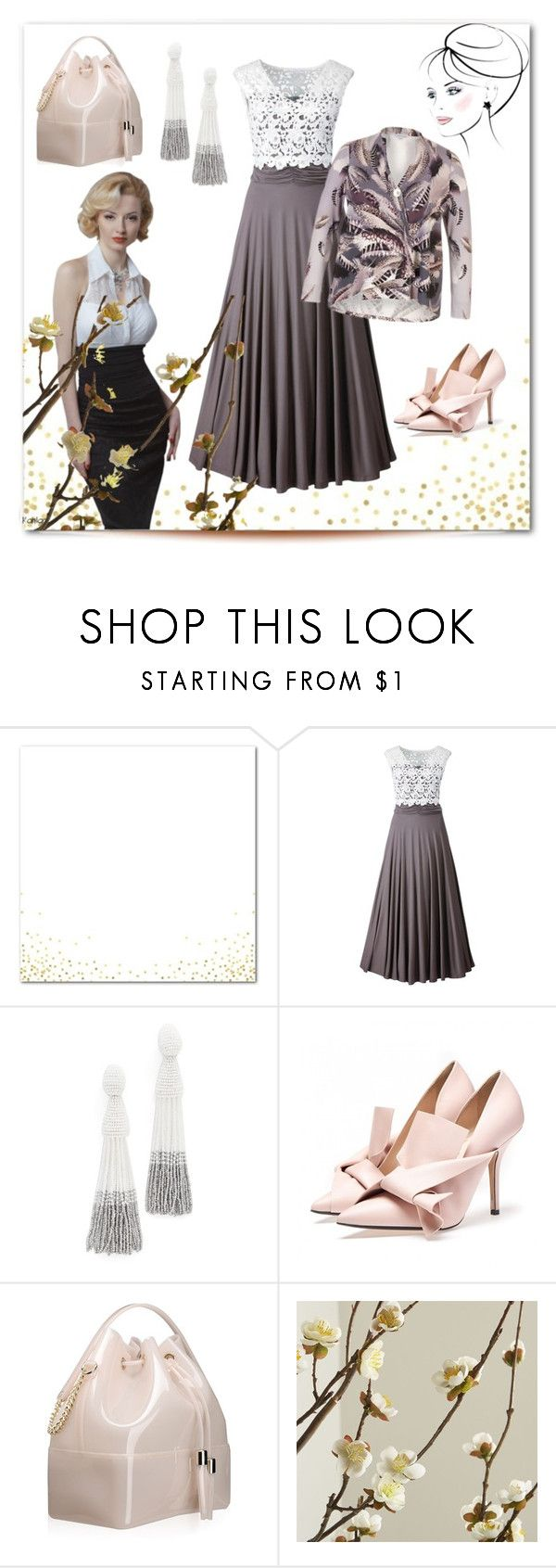 """""""Vintage future"""" by elza6 ❤ liked on Polyvore featuring Oscar de la Renta, Kartell, Crate and Barrel and vintage"""