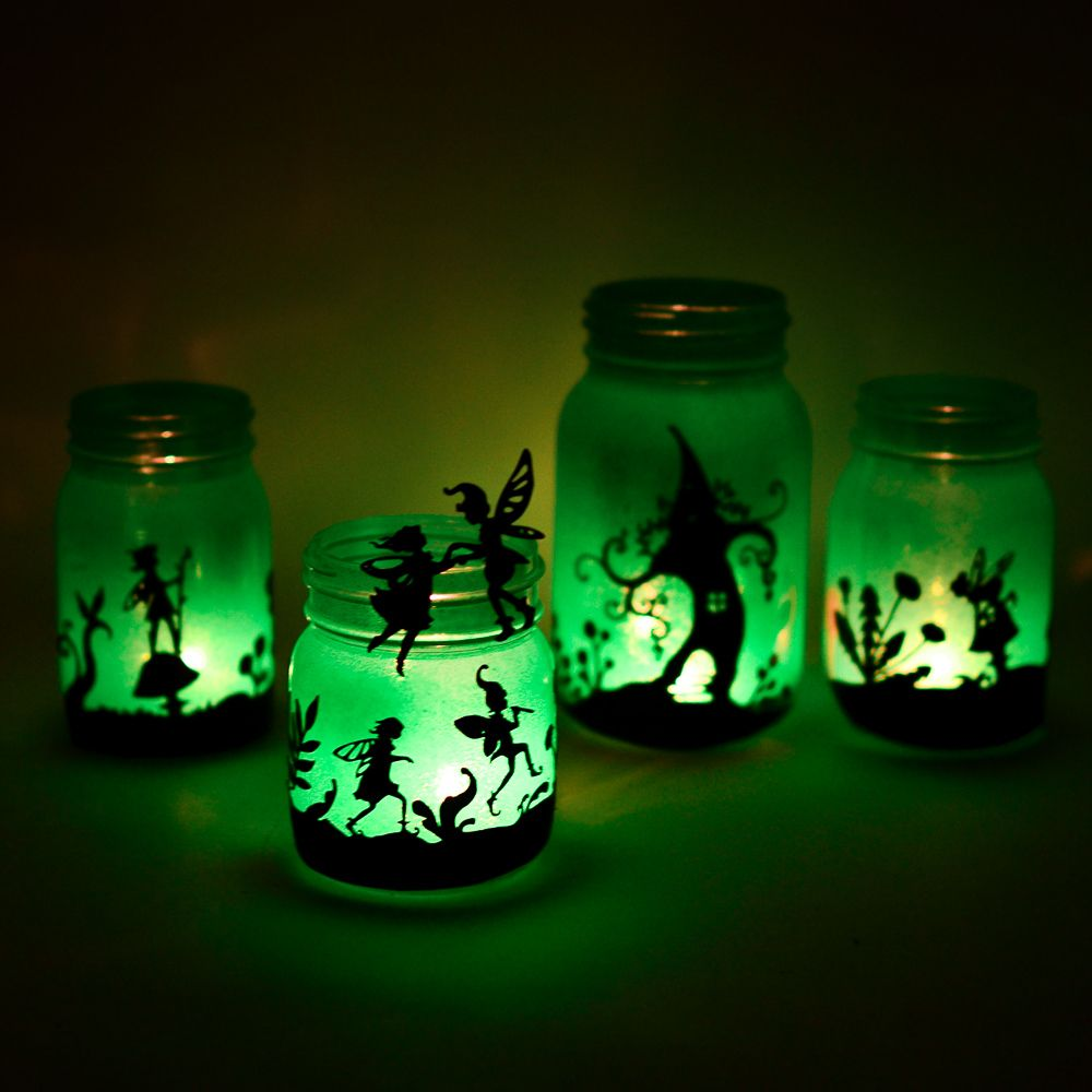 Fairyland Lanterns Printable Silhouettes Fairy Jars Fairy Mason Jars Mason Jar Diy
