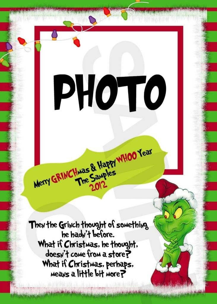 The Grinch Christmas Photo Greeting Card Grinch Christmas Christmas Photo Greeting Cards Grinch Christmas Party