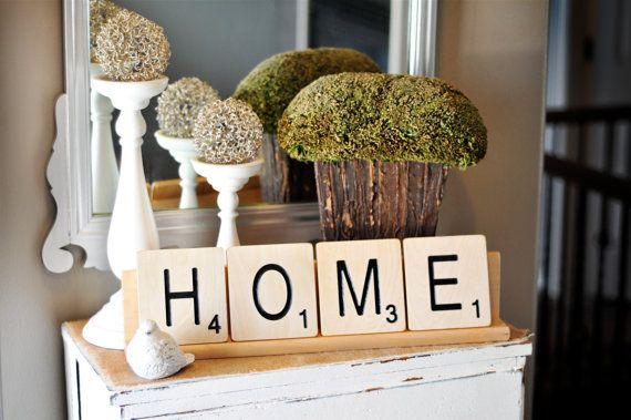 large scrabble tiles diy pinterest fliesen haus und scrabble. Black Bedroom Furniture Sets. Home Design Ideas
