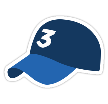 Cartoon Drawing Of Chance The Rapper 8217 S 3 Hat From Coloring Book Also Buy This Artwork On Stickers Apparel Phone Cases And 3 Hat Hats Coloring Books