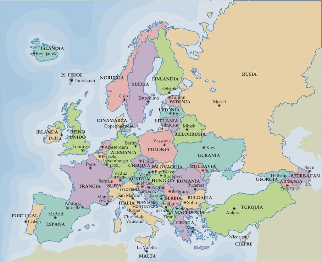 Mapa Mudo De Europa Politico.Europa Politico Gewgrafia Mapa Politico De Europa Mapa